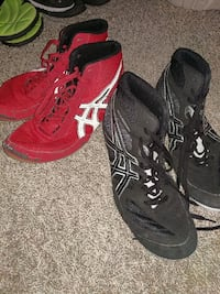 pair of red and black Asics high-top sneakers Polk City, 50226
