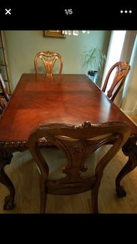 Beautiful Formal Wooden Dinning Room Table with extension w/4 chairs Oklahoma City, 73135