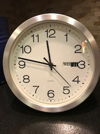 "Crate & Barrel Galvanized 10"" Wall Clock Annandale"