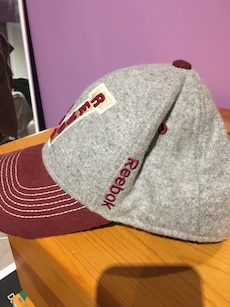 gray and red Vancouver snapback cap