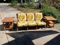 Vintage Wooden Framed Sofa and End Tables Round Rock, 78664