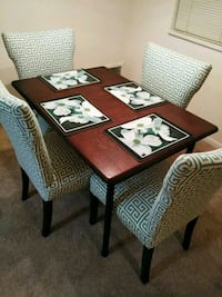 brown wooden table with chairs Springfield, 22150