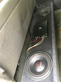 Two 600w 12in massive subs, and 1000 watt massive amp box, I'm selling everything together with the box and wires as well, please tx me @  [PHONE NUMBER HIDDEN] , have to uninstall yourself. Bakersfield