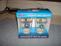 Milwaukee Brewers 2011 NL CENTRAL DIVISION CHAMPIONS Pint Glasses NIB! - $25