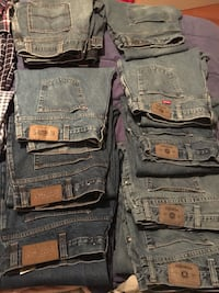 9 pairs of men's size 44 lightly used jeans Edmonton, T6W 1R2