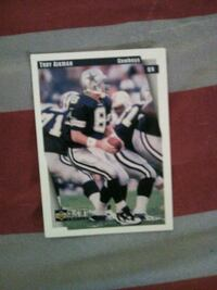 Legend Hall Of Fame Qb Troy Aikman card Washington