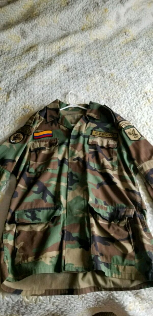 An original Colombian army jacket