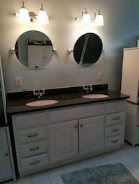 white bath vanity with gray marble top w/ accessor Fairfax, 22033