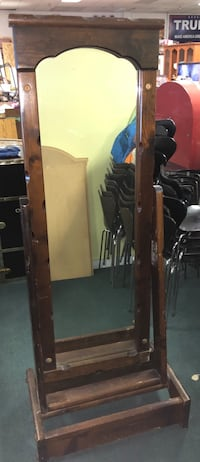 Vintage Adjustable Solid Wood Stand Up Mirror Vancouver, V5N