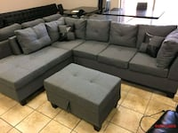 Brand new sectional on sale with free ottoman also Brampton, L6R 3L1