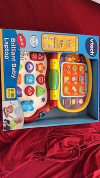 Yellow and red vtech brilliant baby laptop with box Baltimore, 21223