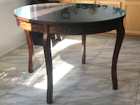 Wood dining table with glass top  Murrieta, 92563