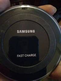 black samsung wireless charging pad