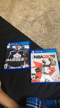 two Sony PS4 game cases Suitland, 20746