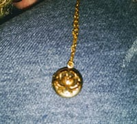 gold chain link necklace with round pendant Colorado Springs, 80916