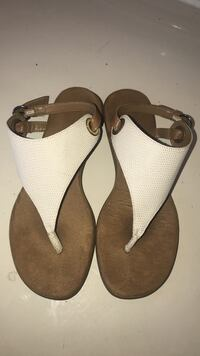 pair of brown leather sandals Tyler, 75708