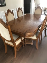 Vintage dining table set with chairs Vaughan