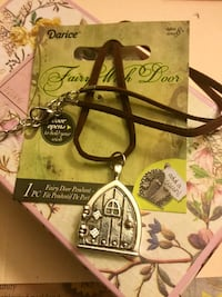 Fairy Wish Door silver pendant with leather - suede chain / Door opens on silver pendant Alexandria, 22311