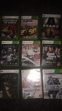 six Xbox 360 game cases Winnipeg, R3T 5Z6