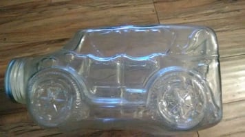 Vintage large glass car
