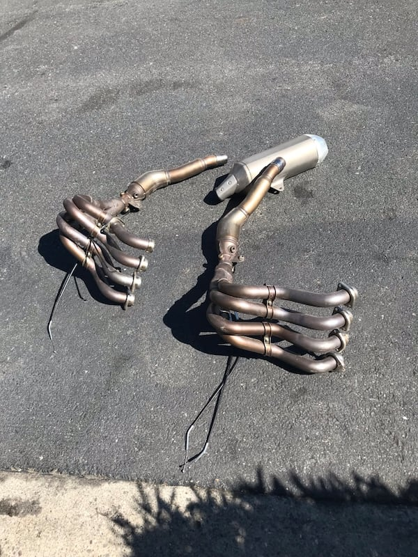 2013 Suzuki GSXR 1000 Exhaust Manifolds with exhaust pipe 1
