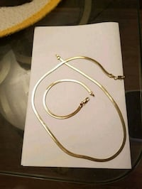 Gold plated necklaces and bracelets  King George, 22485