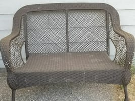 Wicker loveseat, chair,  patio furniture