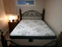 Ashley bed with mattress and box spring  Cambridge, N1R 4M8