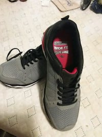 pair of black-and-gray running shoes.Sale or trade Edmonton, T5P 2B3