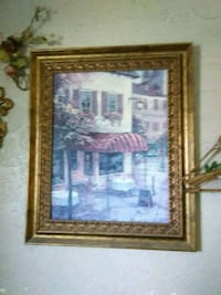 brown wooden framed painting of house Indianapolis, 46225