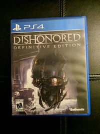 Dishonored PS4 game Brookeville, 20833