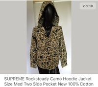 Supreme Rocksteady camouflage hoodie jacket size med two side pocket New York, 10309