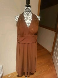 women's brown sleeveless party dress Calgary, T3J 3M6