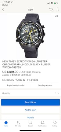 Timex Altimeter E watch