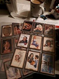 assorted-color trading card lot