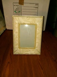 rectangular beige photo frame