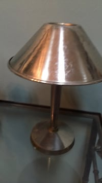 stainless steel base table lamp with white lampshade Trenton, 48183