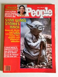 Vintage People Magazine Star Wars Cover Yoda June 9, 1980   Toronto, M4E 3V5