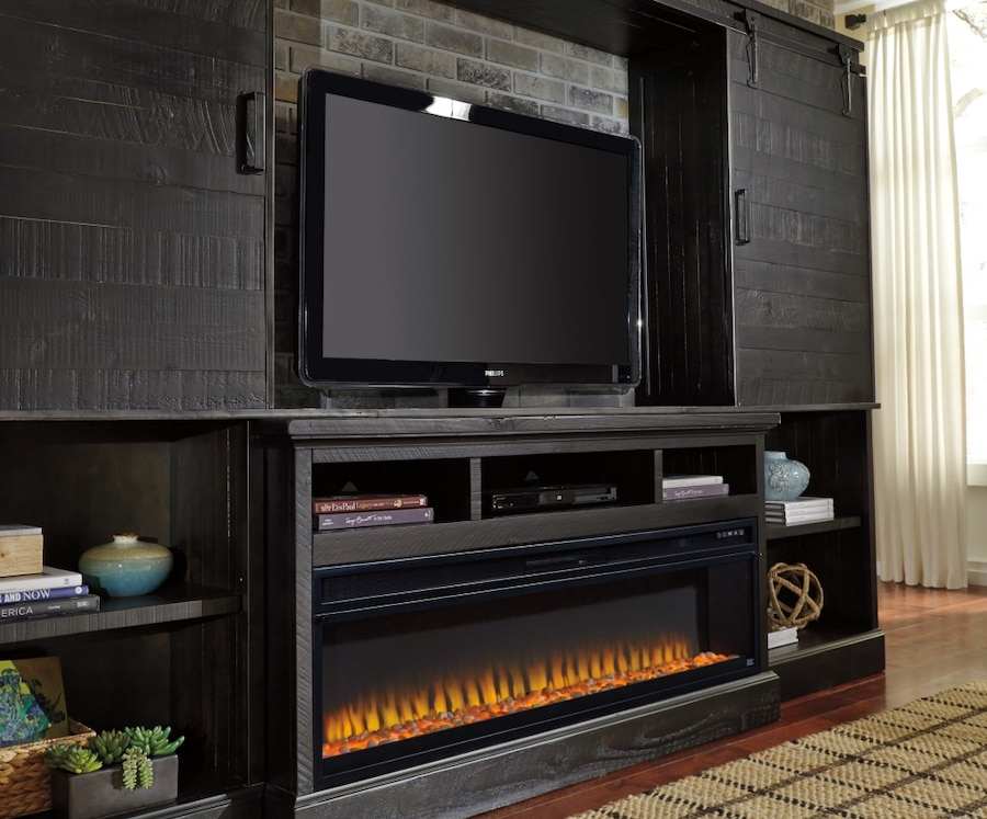 electric fireplace and