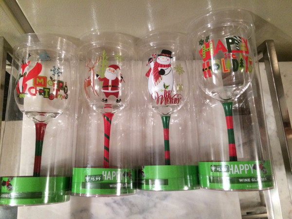 New Set Of 4 Holiday Wine Gles