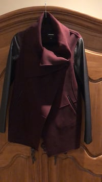 Ladies Mackage jacket. Size small. BURGANDY with black leather sleeves Vaughan, L6A 2V5