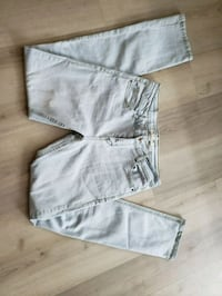 two gray and white denim jeans Edmonton, T5K 1T9