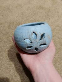 Blue clay candle holder  Franklin, 37067