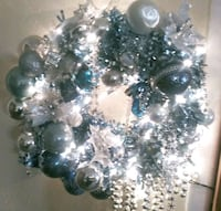 Blue m silver w/lights and vintage Kreb ornaments  Roswell, 88201