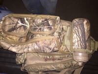 Nice hunting possible bag with water bottle never used
