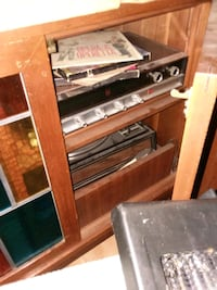 record player new needle out of package 2 speakers and wooden chest Maple Shade Township, 08052