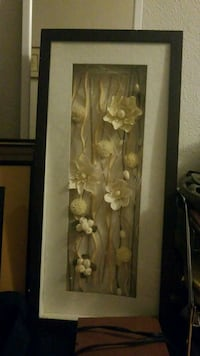 brown wooden framed painting of flowers Montréal, H3S 1J7