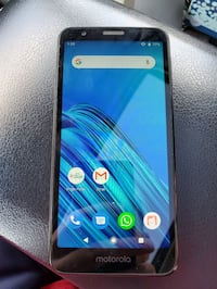Unlocked Moto e6 with car charger and wall charger