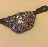 Multicolored sequin Fanny pack
