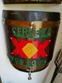 CERVEZA DOS EQUIS WOOD BARREL SIGN Wylie, 75098